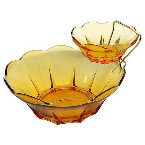 Glass Serving Bowls, 2-Pcs