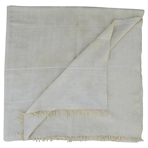 Moroccan Berber Striped Throw
