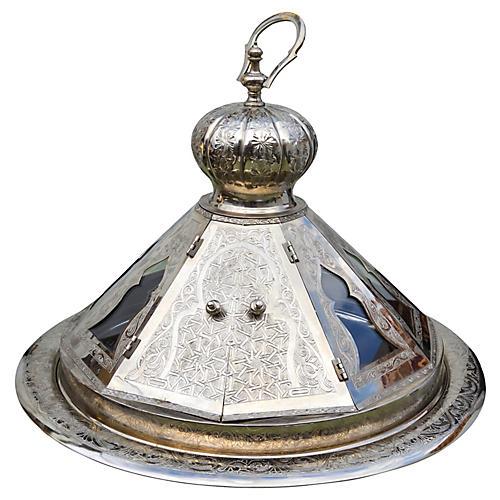Moroccan Bowl w/ Lid & Ornate Details
