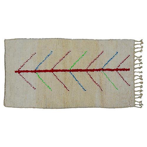 Moroccan Rug, 2'8'' x 5'2''