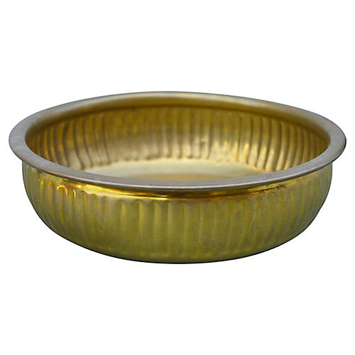 Moroccan Engraved Brass Bowl