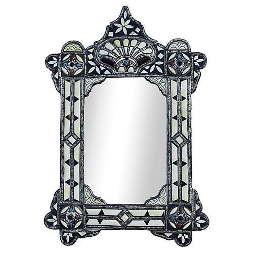 Moorish Mirror w/ Engravings & Inlay