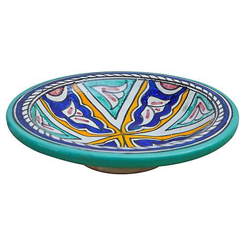 Ceramic Plate w/ Afro-Moresque Design