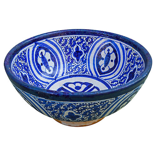 Antique Moorish-Patterned Bowl