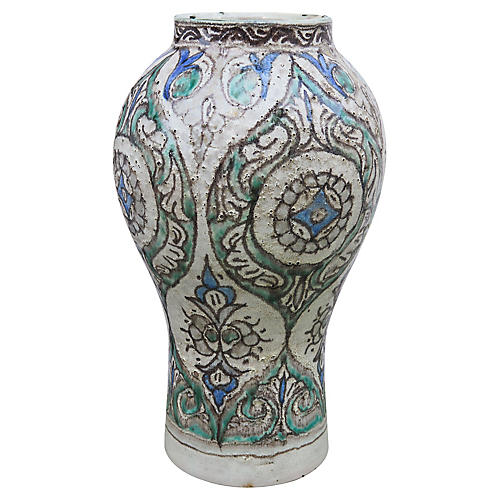 Andalusian-Patterned Fine Ceramic Vase