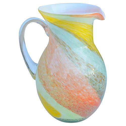Midcentury Murano Glass Vase