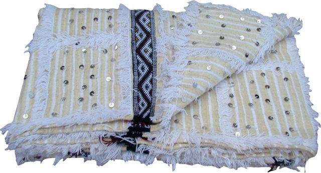 Moroccan Wedding Blanket w/ Shams