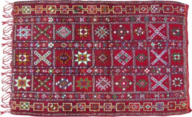 """Moroccan Berber Rug, 4'8"""" x 3'"""