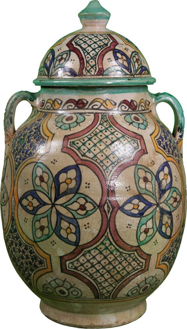 Antique Moroccan Ceramic Vase