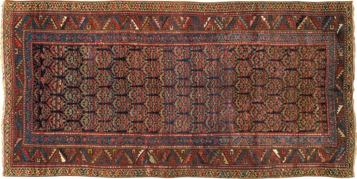 "Antique Kurdish Rug, 5'3"" x 10'5"""