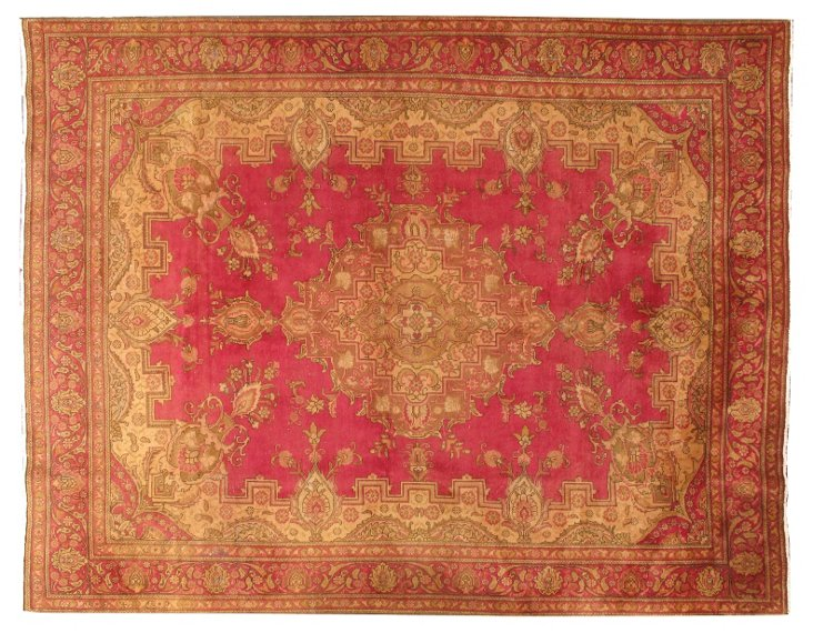 "Persian Tabriz Carpet, 9'5"" x 12'4"""
