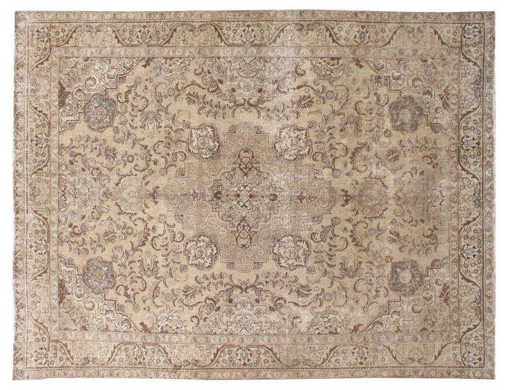 """Antique  Persian Rug, 10'1"""" x 12'9"""""""