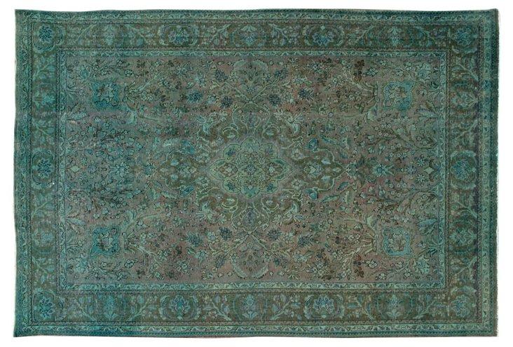 "Antique Overdyed Tabriz, 7'7"" x 11'3"""
