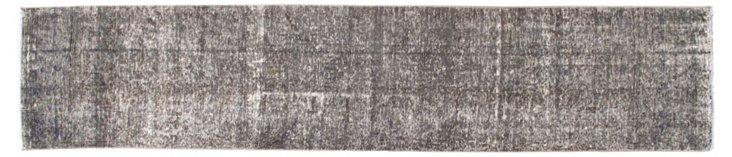 Gray Overdyed Runner, 2'5'' x 11'6''