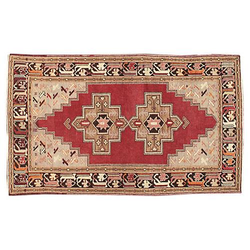 """Antique Turkish Rug, 3'10"""" x 6'5"""""""