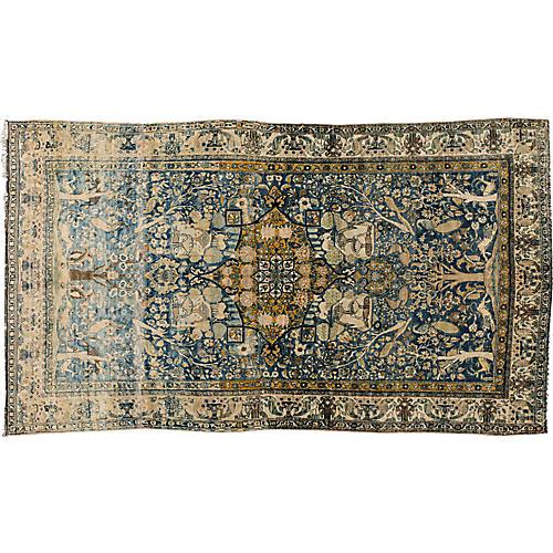 "Antique Persian Kerman Rug, 6'5"" x 11'5"""