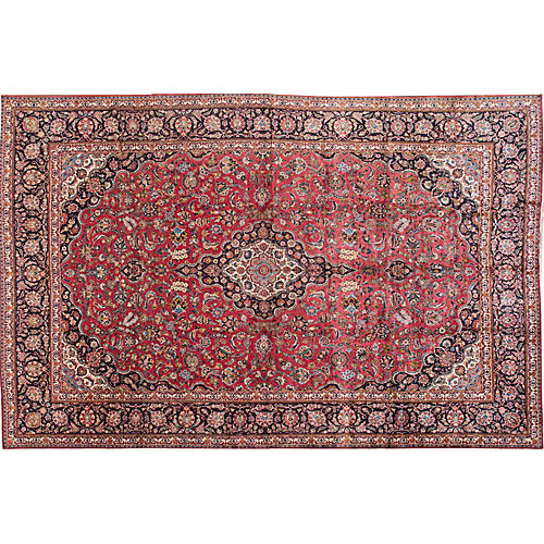 "Kashan Carpet, 10'9"" x 16'7"""
