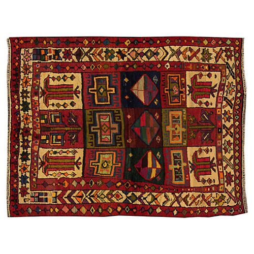 Persian Shiraz Rug, 4'11'' x 6'5''