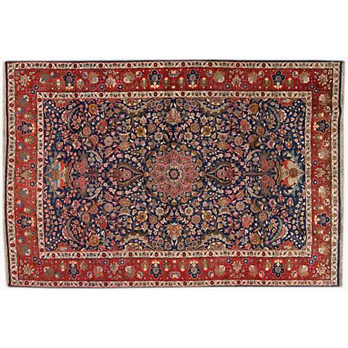 """Persian Tabriz Rug, 6' x 8'9"""""""