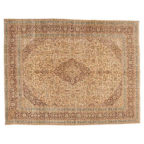 "Persian Tabriz Carpet, 9'9"" x 12'7"""