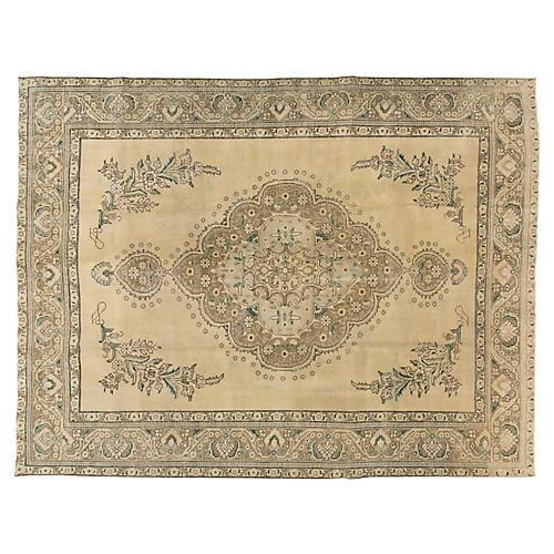 "Antique Tabriz Rug, 10' x 12'8"""