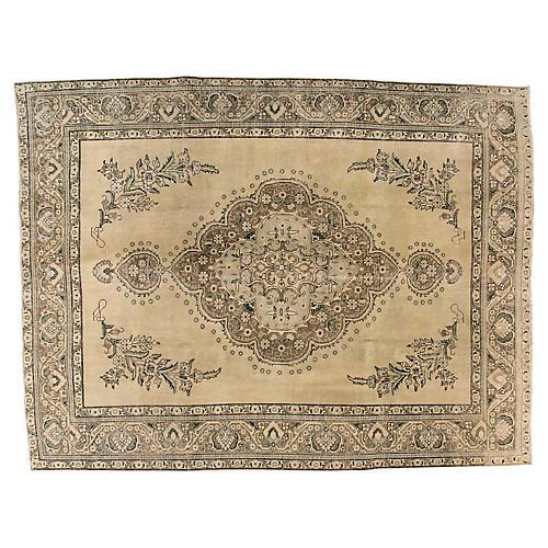"Persian Tabriz Carpet, 10' x 12'8"""