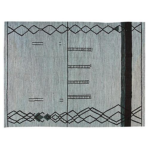 "Art Deco Kilim, 10'2"" x 13'9"""