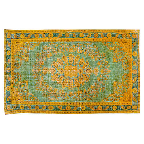 "Turkish Overdyed Rug, 5'10"" x 10'2"""