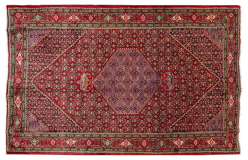 Persian Bidjar Rug, 6'7