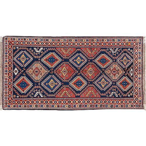 "Vintage Persian Shiraz Rug, 5'2"" x 10'2"""