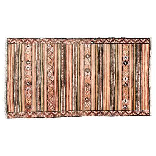 "Vintage Persian Kilim, 4'8"" x 8'7"""