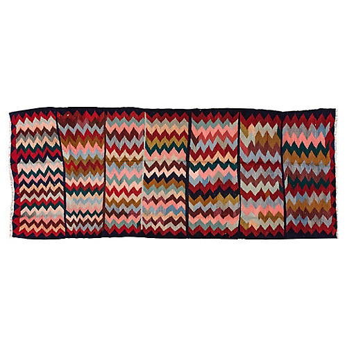 "Antique Kilim, 4'6"" x 11'4"""
