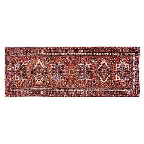 "Vintage Persian Heriz Rug, 3'4"" x 9'"