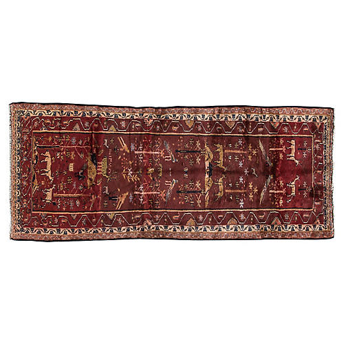 "Vintage Persian Garden Rug, 3'5"" x 8'3"""