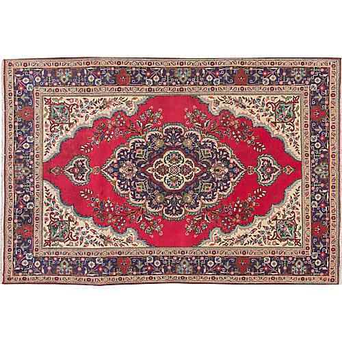 "Vintage Persian Tabriz Rug, 6'5"" x 9'7"""
