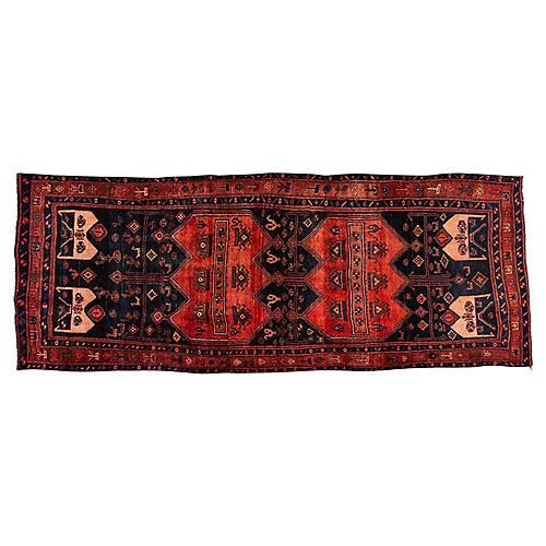 """Antique Persian Bidjar, 4'6"""" x 12'"""