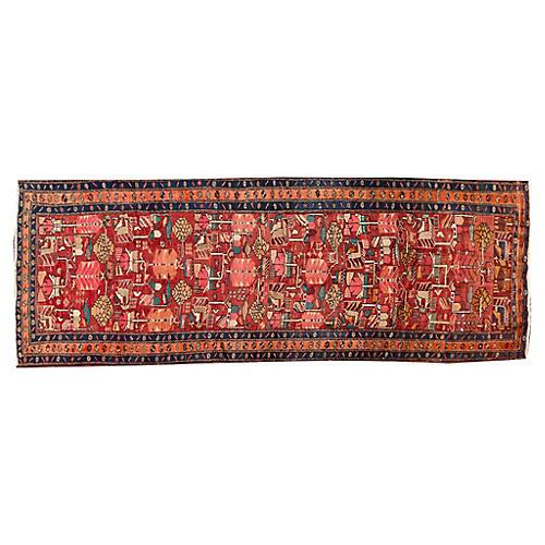 "Vintage Persian Heriz Rug, 4'6"" x 12'2"""