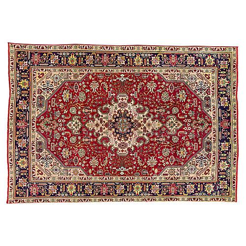 """Persian Tabriz Rug, 6'7"""" x 9'7"""""""