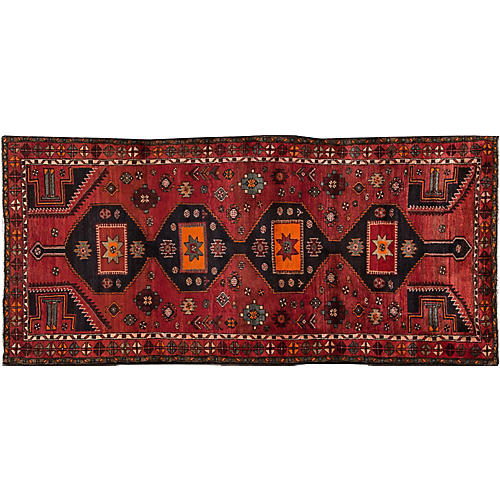 "Vintage Persian Hamadan, 4'1"" x 9'3"""