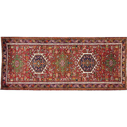 """Vintage Persian Heriz, 2'8"""" x 6'6"""""""