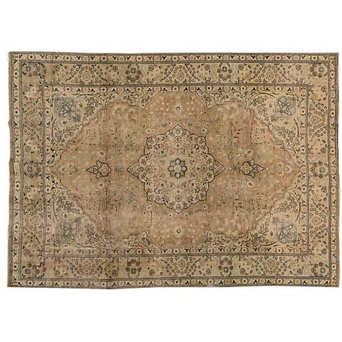 "Vintage Persian Tabriz, 6'8"" x 10'4"""