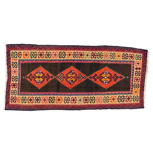 "Vintage Persian Kilim, 4'4"" x 9'2"""