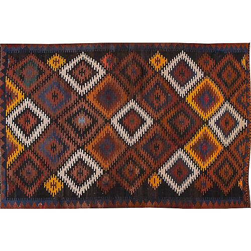 "Vintage Persian Kilim, 6'6"" x 10'"
