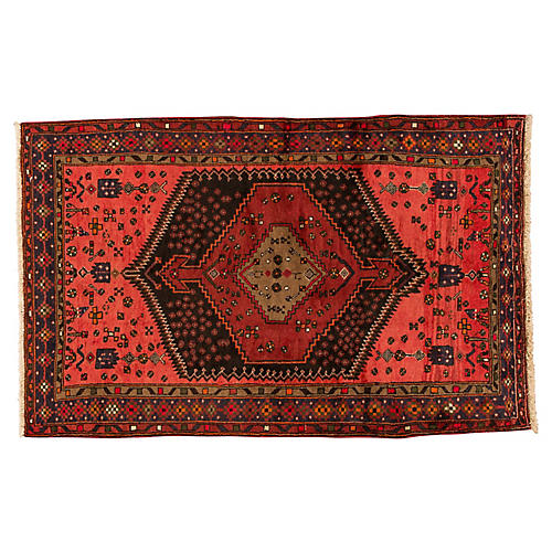 "Vintage Persian Hamadan, 4'4"" x 6'10"""