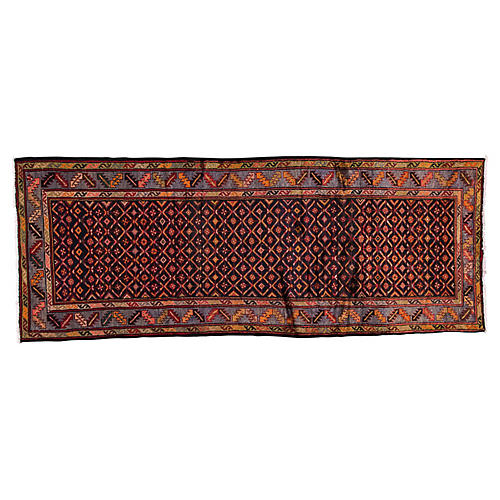 "Vintage Persian Hamadan, 3'7"" x 9'4"""