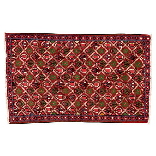 "Vintage Persian Rug, 2'11"" x 4'7"""