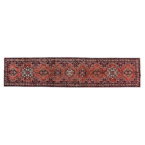 "Vintage Persian Heriz Rug, 3'4"" x 15'7"""