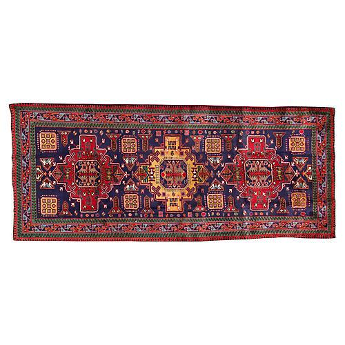 """Vintage Persian Heriz, 4'2"""" x 10'"""