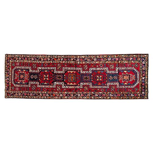 """Vintage Persian Heriz, 3'4"""" x 10'9"""""""