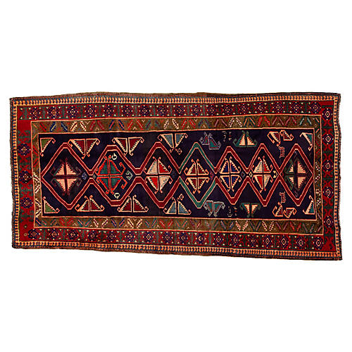 """North West Persian Rug, 4'6"""" x 9'1"""""""